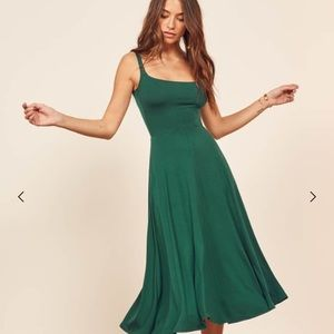 Reformation Mary Dress in Emerald